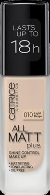 Основа тональная CATRICE All Matt Plus Shine Control Make Up 010 Light Beige светло-бежевый: фото