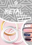 Наклейки для ногтей Metal stripes nail stickers Essence 04: фото
