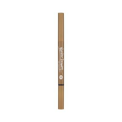 Автоматический карандаш для бровей с щеточкой Wonder Drawing 24hr Auto Eyebrow Holika Holika, тон 03, светло-коричневый: фото