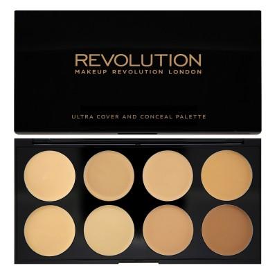 Набор консилеров Makeup Revolution Ultra Cover and Conceal Palette Light - Medium: фото