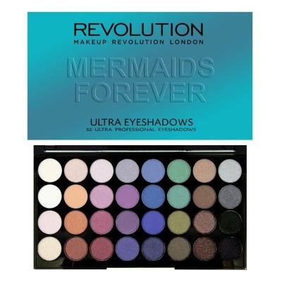 Палетка теней Ultra 32 Shade Eyeshadow Palette Mermaids Forever: фото