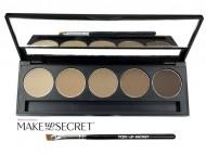 Палитра теней для бровей Make up Secret 5 оттенков 5 Brow Palette BP-02: фото