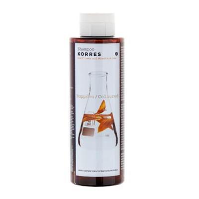 Шампунь для окрашенных волос подсолнух и гаультерия Korres 250 мл: фото
