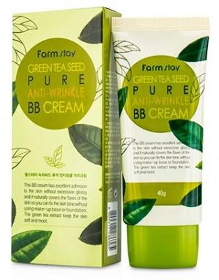 BB-крем антивозрастной с семенами зеленого чая FARMSTAY Green tea seed pure anti-wrinkle BB-cream 40 г: фото