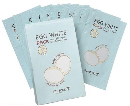 Очищающие полоски для носа SKINFOOD Egg White Pack: фото