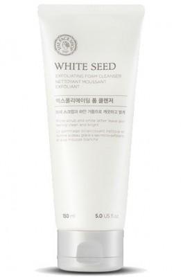 Пенка-скраб для умывания отбеливающая THE FACE SHOP White seed exfoliating cleansing foam 150 мл: фото