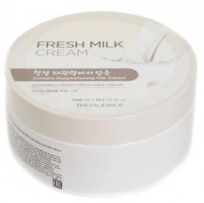 Крем молочный THE FACE SHOP Daegwallyeong fresh milk cream 300 мл: фото