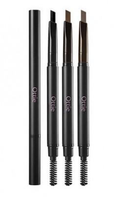 Карандаш для бровей OTTIE Natural Drawing Eye Brow Pencil №02 Dark Brown: фото