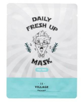 Маска с экстрактом чайного дерева VILLAGE 11 FACTORY Daily Fresh up Mask Tea Tree: фото