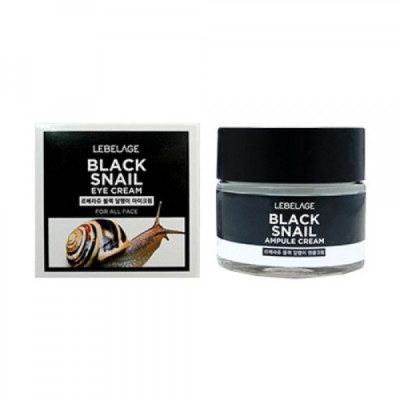 Крем вокруг глаз с муцином чёрной улитки LEBELAGE Black Snail Eye Cream 70мл: фото