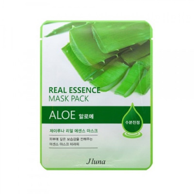 Тканевая маска с алоэ Juno JLuna Real Essence Mask Pack Aloe 25мл: фото