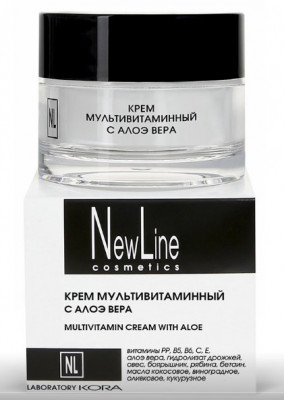 Крем мультивитаминный с алоэ вера NEW LINE 50мл: фото