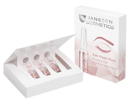 Сыворотка восстанавливающая для контура глаз Janssen Cosmetics Eye Flash Fluid 3*1,5мл: фото