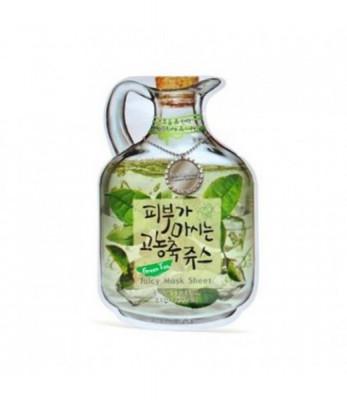 Маска тканевая фруктовая Green Tea Juicy Mask Sheet Moisture & Lifting 23гр: фото