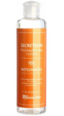 Тонер для лица с экстрактом гамамелиса Secret Skin Witchhazel Poreless Toner 250мл: фото