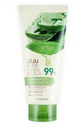 Гель для лица и тела с алоэ THE FACE SHOP aloe fresh soothing gel tube 300мл: фото