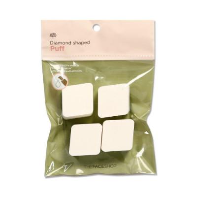 Спонж для нанесения макияжа The Face Shop Daily beauty tools diamond shaped puff, 4 шт.: фото