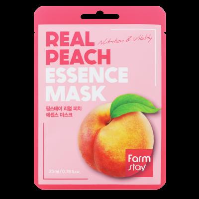Тканевая маска для лица с экстрактом персика FARMSTAY REAL PEACH ESSENCE MASK 23 мл: фото