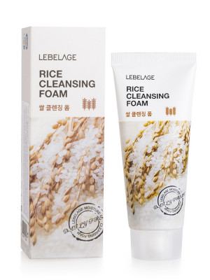 Пенка для умывания с экстрактом рисовых отрубей LEBELAGE Rice Cleansing Foam: фото