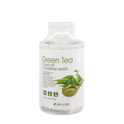 Очищающая вода с экстрактом зеленого чая 3W CLINIC Green Tea Clean-Up Cleansing Water: фото