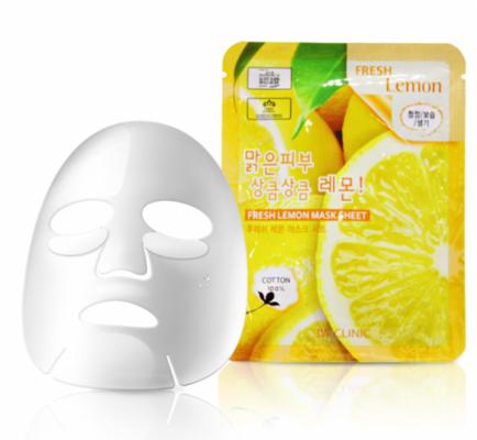 Тканевая маска для лица с экстрактом лимона 3W CLINIC Fresh Lemon Mask Sheet: фото