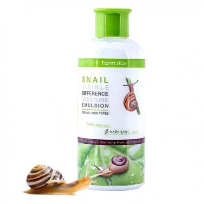 Эмульсия с муцином улитки FarmStay Snail Visible Difference Moisture Emulsion: фото