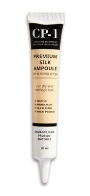 Сыворотка несмываемая для волос с протеинами шелка ESTHETIC HOUSE CP-1 Premium Silk Ampoule 20 мл: фото