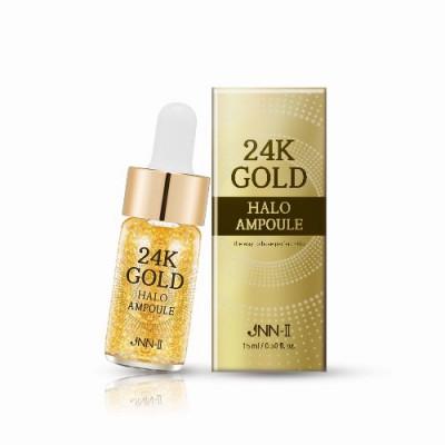 Сыворотка для лица с 24К золотом JUNGNANI JNN-II 24K GOLD HALO AMPOULE 15мл: фото