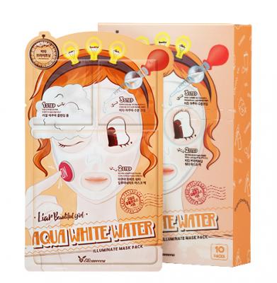 Маска трехступенчатая увлажняющая ELIZAVECCA Aqua White Water Illuminate Mask Pack 10 шт: фото