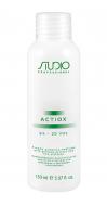 Кремообразная окислительная эмульсия с экстрактом женьшеня и рисовыми протеинами Kapous Studio ActiOx 6% 150 мл: фото