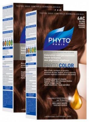 Краска для волос Phytosolba PhytoCOLOR №6АС Темный блонд медь-красное дерево СДВОЙКА: фото