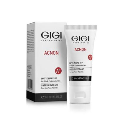 Крем-тон матирующий для проблемной и жирной кожи GIGI ACNON Matte Make-up 30мл: фото