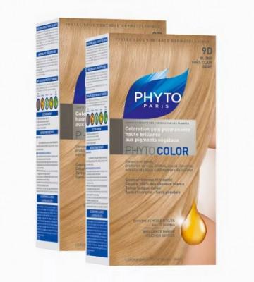 Краска для волос Phytosolba PhytoCOLOR №9D Очень светлый Золотистый Блонд СДВОЙКА: фото