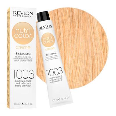 Краска для волос без аммиака Revlon Professional Nutri Color Creme 1003 Очень Светло Золотистый 100мл: фото