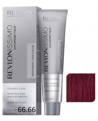 Краска перманентная Revlon Professional Revlonissimo Colorsmetique 66.66 Темный Блондин гипер Красный 60мл: фото