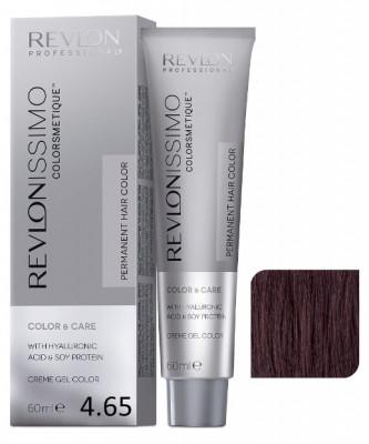 Краска перманентная Revlon Professional Revlonissimo Colorsmetique 4.65 Коричневый Красно-Махагоновый 60мл: фото