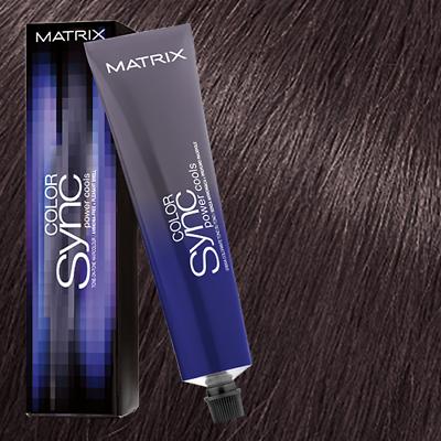 Краска для волос без аммиака Matrix Color Sync POWER COOLS 5VA Коричневый ясень 90мл: фото