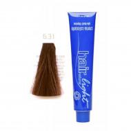 Крем-краска для волос Hair Company HAIR LIGHT CREMA COLORANTE 6.31 тёмно-русый золотисто-пепельный 100мл: фото