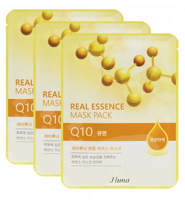 Тканевая маска с коэнзимом Q10 JUNO Real essence mask pack Q10 25мл*3шт: фото