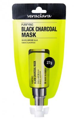 Маска-пленка очищающая с углём Veraclara Purifying Black Charcoal Mask 27г: фото