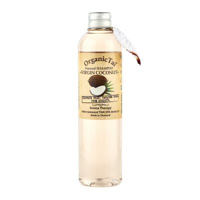 Шампунь безсульфатный с кокосовым маслом Organic Tai Natural Shampoo Virgin Coconut 260 мл: фото