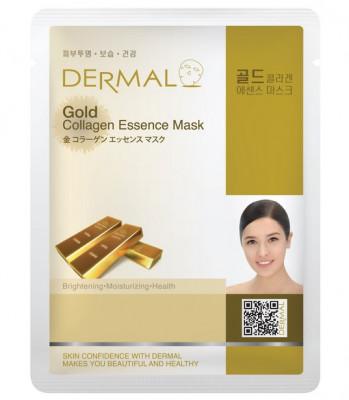 Тканевая маска коллоидное золото и коллаген Dermal Gold Collagen Essence Mask 23 мл: фото