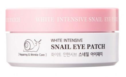 Патчи для глаз гидрогелевые с муцином улитки HANIxHANI White Intensive Snail Eye Patch 60 шт: фото