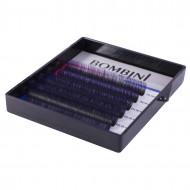 Ресницы Bombini Holi Черно-фиолетовые, 6 линий, изгиб D MIX 8-13 0.07: фото