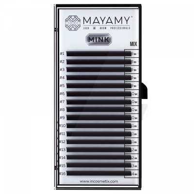 Ресницы MAYAMY MINK 16 линий D 0,10 MIX: фото