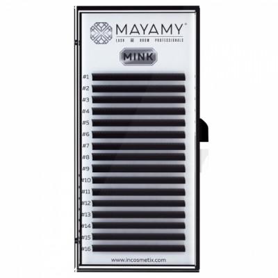 Ресницы MAYAMY MINK 16 линий D 0,05 9 мм: фото