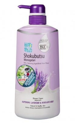 Крем-гель для душа лаванда с молоком LION Thailand Shokubutsu Monogotari 500 мл: фото