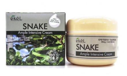Ампульный крем со змеиным пептидом Ekel Ample Intensive Cream Snake 100 г: фото
