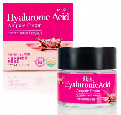 Ампульный крем с гиалуроновой кислотой Ekel Ampule Cream Hyaluronic Acid 70 мл: фото