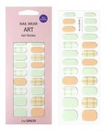 Наклейки для ногтей THE SAEM Nail Wear Art Gel Sticker 09 Nude Mint Check: фото